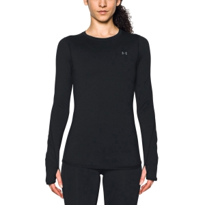 Maglia Running Donna Under Armour ColdGear Armour Crew Shirt  Black 12982140001