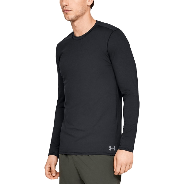 Under Armour Men/'s ColdGear Fitted Crew Long Sleeve Shirt $50 RETAIL BLACK NEW