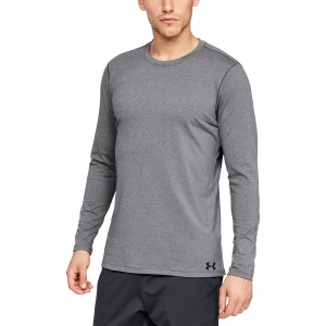 Men's Running Shirt Under Armour ColdGear Fitted Crew Shirt  Grey 13324910019