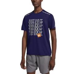 Nike Breathe Rise 365 T-Shirt - Purple/Silver