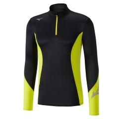 Mizuno Virtual Body G2 1/2 Zip Shirt - Black/Volt