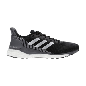 Men's Structured Running Shoes Adidas Solar Glide ST 19  Core Black/Silver Metallic/Grey Five EF1467