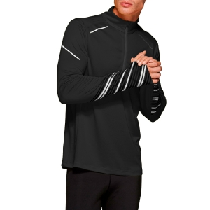 Men's Running Shirt Asics Lite Show 1/2 Zip Shirt  Performance Black 2011A451001