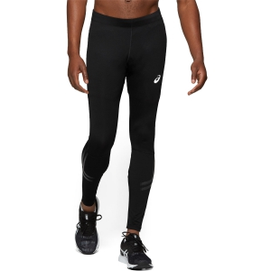 Men's Running Tights Asics Silver Icon Tights  Black/Dark Grey 2011A458002