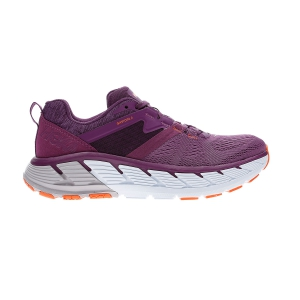 Woman's Structured Running Shoes Hoka One One Gaviota 2  Grape Juice/Bright Marigold 1099630GJBM