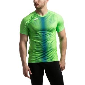 Joma Olimpia Graphic T-Shirt - Fluor Green/Royal
