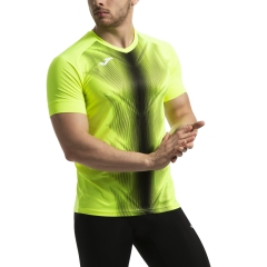 Joma Olimpia Graphic T-Shirt - Fluor Yellow/Black