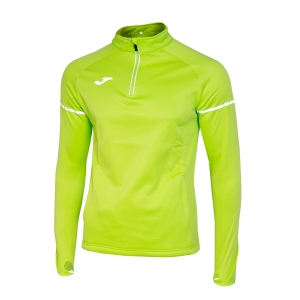 Men's Running Shirt Joma Race 1/2 Zip Shirt  Lime 100978.400