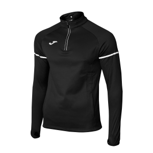 Men's Running Shirt Joma Race 1/2 Zip Shirt  Black 100978.100