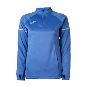 Maglia Running Donna Joma Race 1/2 Zip Shirt  Blue 900661.700