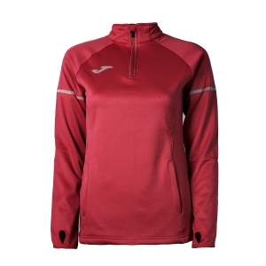 Maglia Running Donna Joma Race 1/2 Zip Shirt  Red 900661.600