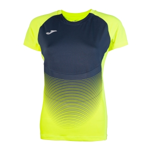 Women's Running T-Shirts Joma Elite VI TShirt  Volt/Navy 900641.063