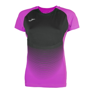 Women's Running T-Shirts Joma Elite VI TShirt  Purple/Black 900641.501