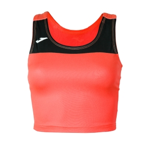 Women's Running Tank Top Joma Race Top  Fluo Coral/Black 900758.041