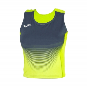Women's Running Tank Top Joma Elite VI Top  Volt/Navy 900642.063
