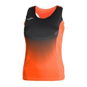 Women's Running Tank Top Joma Elite VI Tank  Orange Fluo/Black 900697.051