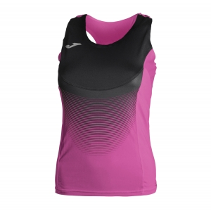 Women's Running Tank Top Joma Elite VI Tank  Purple/Black 900697.501