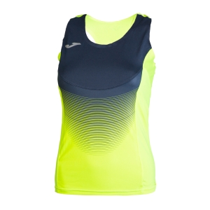 Women's Running Tank Top Joma Elite VI Tank  Volt/Navy 900697.063