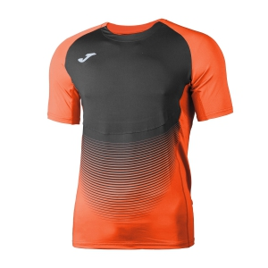 Maglietta Running Uomo Joma Elite VI TShirt  Fluo Orange/Black 100949.051