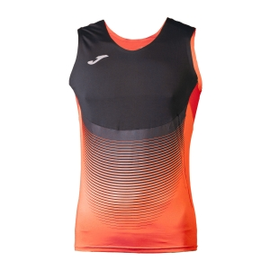 Men's Running Sleeveless Joma Elite VI Tank  Fluo Orange/Black 100950.051
