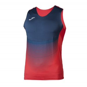 Men's Running Sleeveless Joma Elite VI Tank  Red/Navy 100950.603