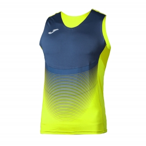 Men's Running Sleeveless Joma Elite VI Tank  Volt/Navy 100950.063