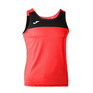 Men's Running Sleeveless Joma Race Tank  Fluo Coral/Black 101033.041