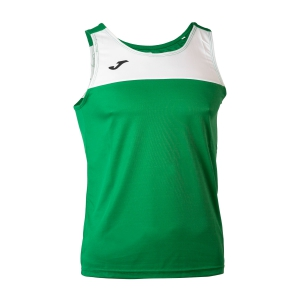 Men's Running Sleeveless Joma Race Tank  Green/White 101033.450