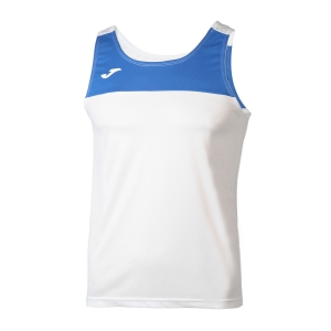 Men's Running Sleeveless Joma Race Tank  White/Blue 101033.207