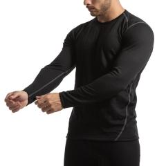 Mico Dualtech Merino Shirt - Nero/Grigio
