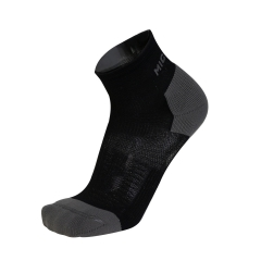 Mico Run Socks - Black/Grey