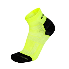 Mico Run Socks - Volt/Black