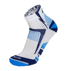 Mico Light X-Static Argento Socks - White/Blue