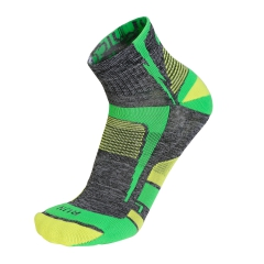 Mico Light X-Static Argento Socks - Grey/Green