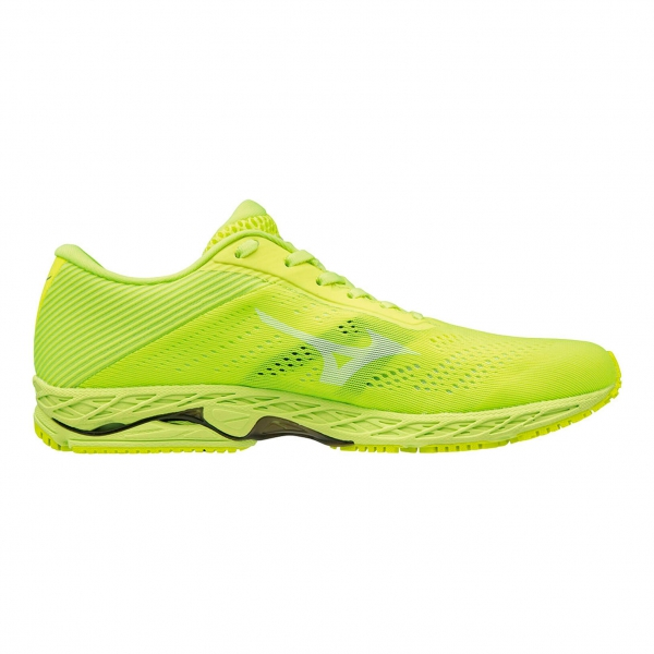 best sneakers a2d5b f9df0 Mizuno Shadow 3 Men's Running Shoes - Safety Yellow/White