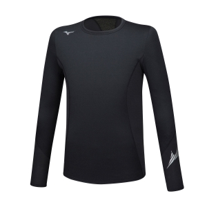 Men's Shirts Sport Underwear Mizuno Virtual Body G2 Crew Shirt  Black A2GA850509