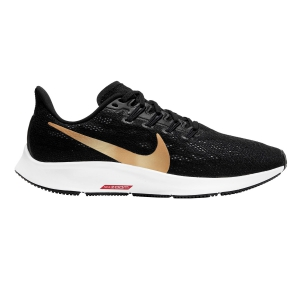 Women's Neutral Running Shoes Nike Air Zoom Pegasus 36  Black/Metallic Gold/University Red/White AQ2210008