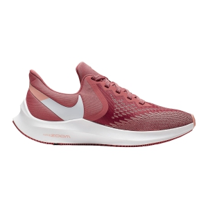 Women's Neutral Running Shoes Nike Zoom Winflo 6  Light Redwood/White/Pink Quarz AQ8228800