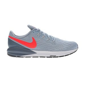 Men's Structured Running Shoes Nike Air Zoom Structure 22  Grey/Coral AA1636405