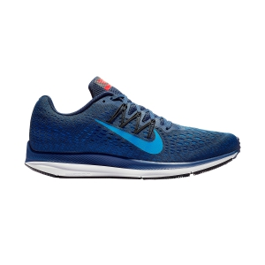 Men's Neutral Running Shoes Nike Air Zoom Winflo 5  Navy/Electric Blue AA7406405