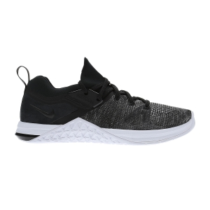 Women's Gym Shoes Nike Metcon Flyknit 3  Black/Matte Silver/White AR5623001
