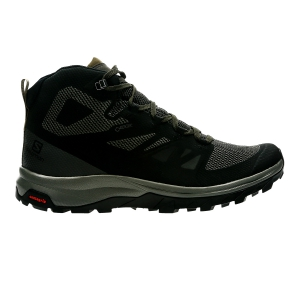 Men's Outdoor Shoes Salomon Outline Mid GTX  Black/Military Green L40476300