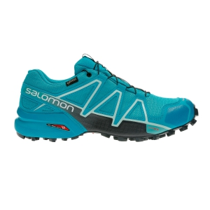 Women's Trail Running Shoes Salomon Speedcross 4 GTX  Turquoise L40660600