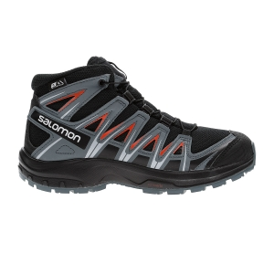 Junior Running Shoes Salomon XA Pro 3D Mid CSWP Junior  Black/Stormy Weather/Cherry Tomato L40651200