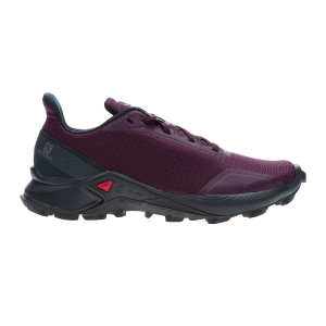 Women's Trail Running Shoes Salomon Alphacross  Potent Purple/Navy Blazer/India Ink L40804800