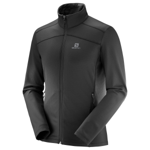 Men's Outdoor Jacket and Shirt Salomon Discovery LT Full Zip Shirt  Black L40402500