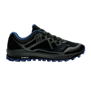Men's Trail Running Shoes Saucony Peregrine 8 GTX  Black/Blue 204541