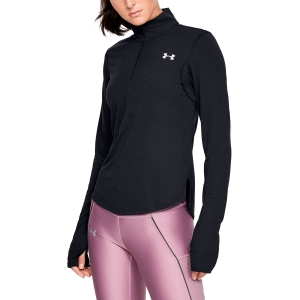 Maglia Running Donna Under Armour Streaker 1/2 Zip Shirt  Black 13265020001