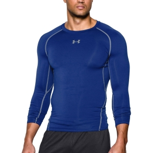 Men's Shirts Sport Underwear Under Armour HeatGear Armour Compression Shirt  Blue 12574710400