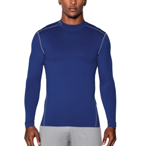 Men's Running Shirt Under Armour ColdGear Compression Mock Shirt  Blue 12656480400